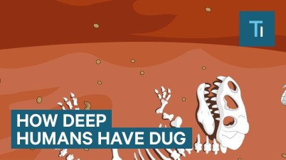 how deep humans have dug