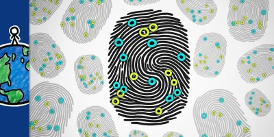 How Chaos Makes Your Fingerprints Unique