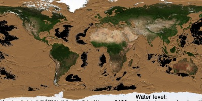 Draining Earth's oceans, revealing the two-thirds of Earth's surface we don't get to see