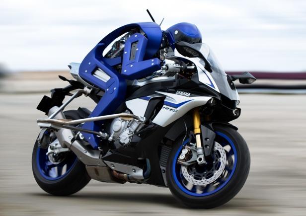 MOTOBOT Ver.1 - an autonomous motorcycle-riding humanoid robot built by Yamaha