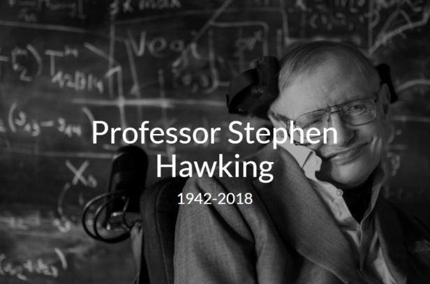 R.I.P. Stephen Hawking (1942-2018) [Image: Andre Pattenden via The Cambridge]