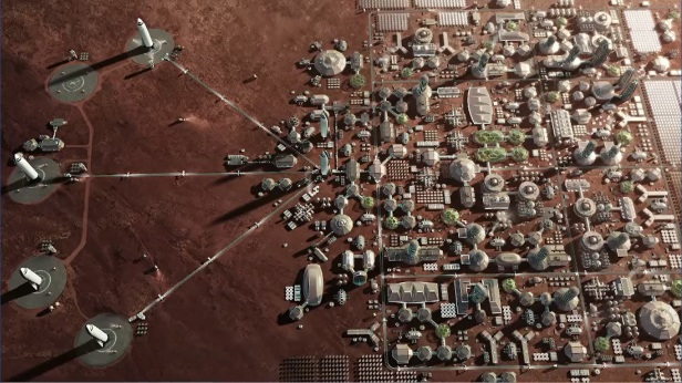 Mars Colony as envisioned by Elon Musk