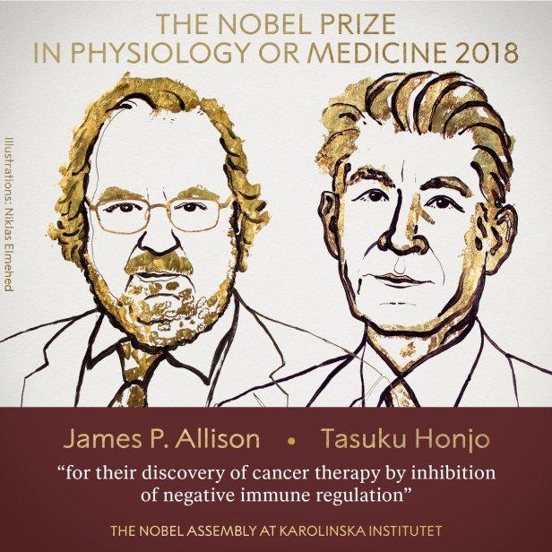 The Nobel Prize In Medicine 2018 Awarded Jointly To James P. Allison and Tasuku Honjo
