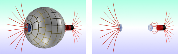 an illustration of magnetic wormhole created by physicists