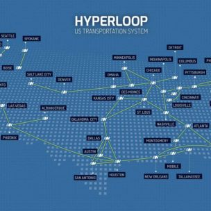 Hyperloop transportation system of the USA