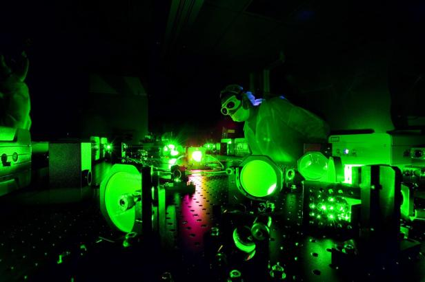 Physicists Just Created A Light That Is A Billion Times Brighter Than The Sun [Image Via University Communication/University of Nebraska-Lincoln]
