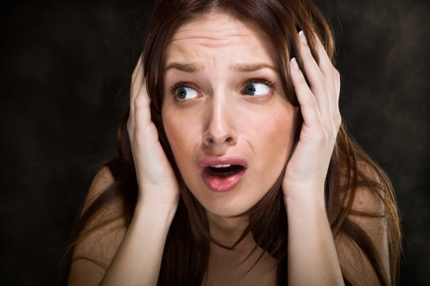 Study says blocking a single molecule defeats chronic fear and fear memories. (Picture - Terrified Woman)