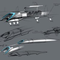 Elon Musk Hyperloop original sketch
