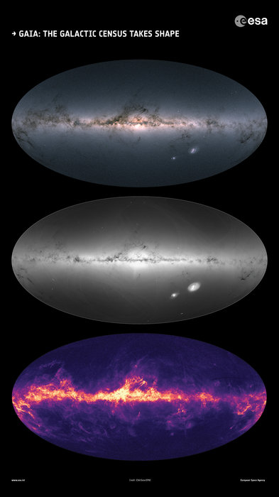 Detailed Map Of Our Galaxy And Stars Beyond