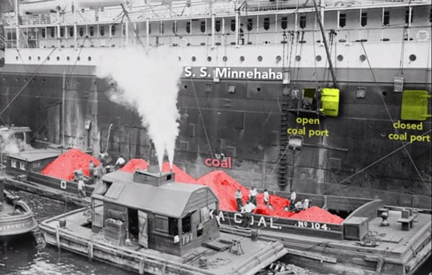 Coal being loaded