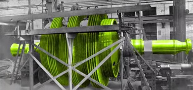 Turbine under construction without outer casing